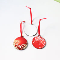 Pack of 10 pcs - Double Sided MDF Christmas Ornaments for Sublimation