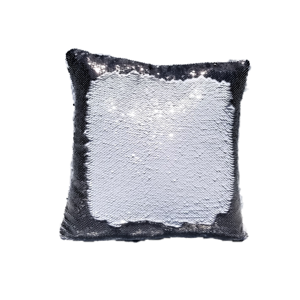 Reversible Sequin Sublimation  Pillow Case - Black