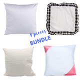 Bundle #4 - Sublimation Blanks: Set of 4 Pillow covers