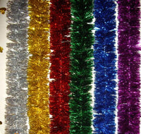 Christmas Ball Ornaments with Tinsels - 6 colors