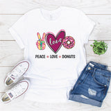 """Peace Love Donuts"" Sublimation Transfer"