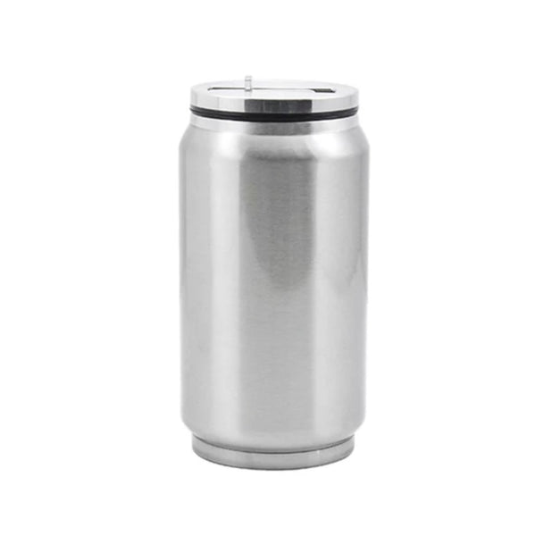 Sublimation 12oz or 17oz Stainless Steel or White Coke Can with straw