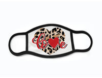 "Pack of 3 Face Masks with Filter Pocket - ""Leopard Love"""