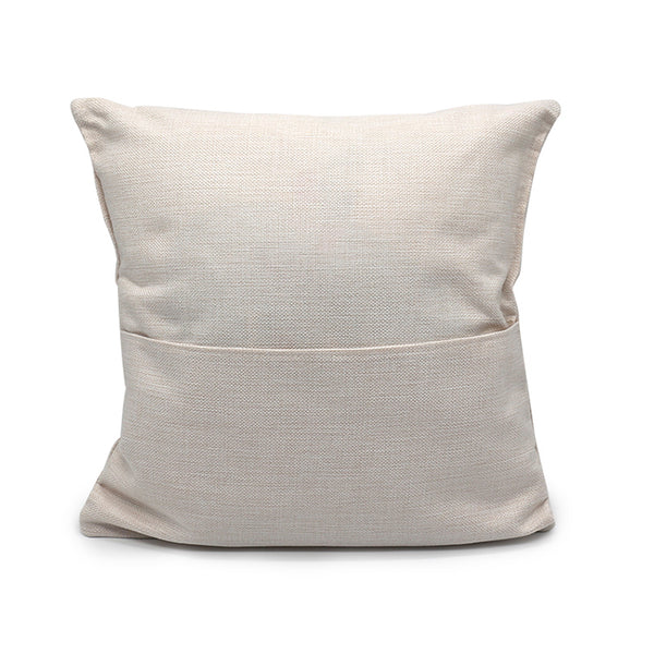 Pack of 5 - Sublimation Linen Pillow Case with 1 or 2 Pockets