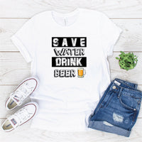 """Save water"" Sublimation Transfer"