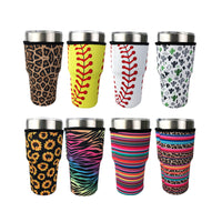 Pack of 5 - Neoprene Tumbler Holder Sleeve for Sublimation 20oz or 30 oz
