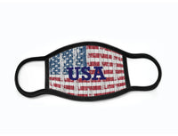 "Pack of 3 Face Masks with Filter Pocket - ""USA Map Full"""