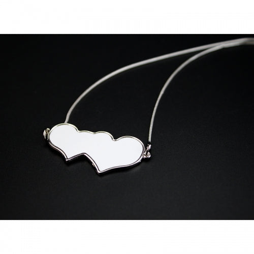 Sublimation Hear to Heart Charm Necklace