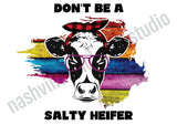 "Set of 3 pcs ""Don't Be a Salty"" White Waffle Towels"