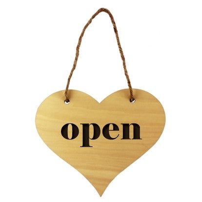 Sublimation Blank Custom Wooden Heart Door Sign