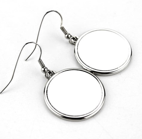 Round Sublimation Earrings