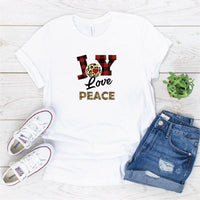 """Joy Love Peace"" Sublimation Transfer"