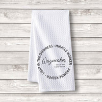 "Set of 3 pcs ""Waymaker"" White Waffle Towels"