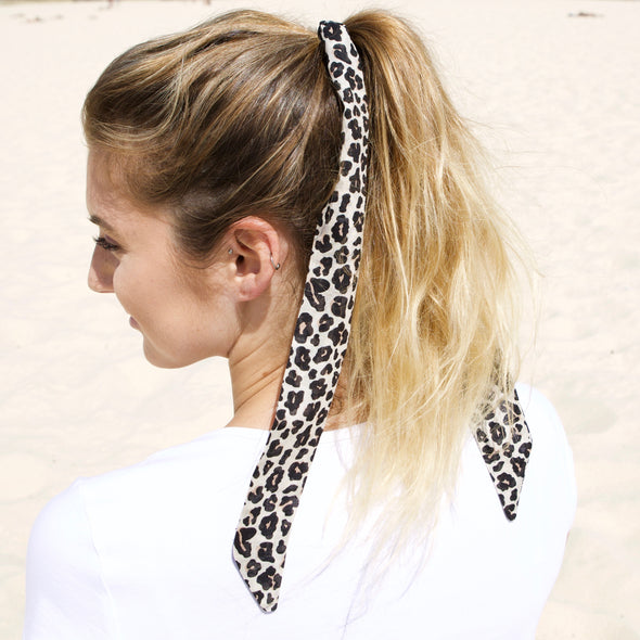 Gorgeous animal print hair scarf