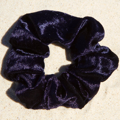 Scrunchies are back and they're here to stay! These stunning scrunchies look great in your hair and also work as gorgeous accessories.  Colour/Pattern: Navy  Material: Velveteen Washing instructions: Cold hand wash  Dimensions: Material width approximately 4 cm  Made by us in Bondi Beach  With love from Larzy xx
