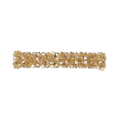 Gorgeous beaded crystal hair barrette in gold colour