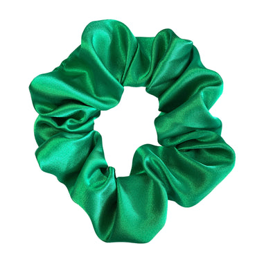 Scrunchies are back and they're here to stay! These stunning scrunchies look great in your hair and also work as gorgeous accessories.  Colour/Pattern: Green Material: Satin  Washing instructions: Cold hand wash  Dimensions: Material width approximately 5 cm  Made by us in Bondi Beach  With love from Larzy xx