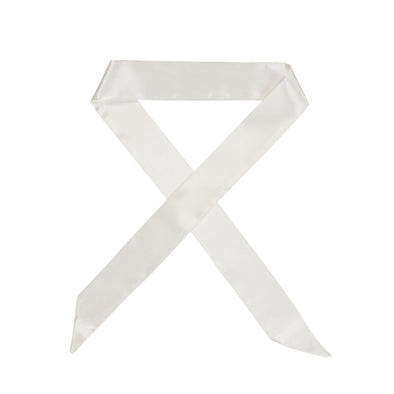 Gorgeous white satin hair scarf