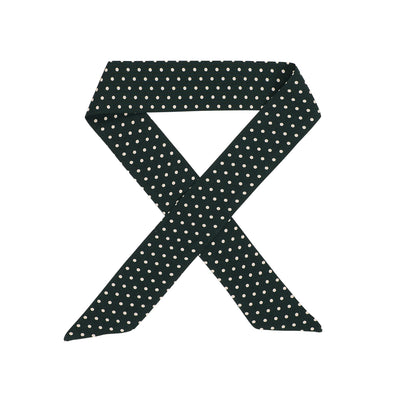 Gorgeous green with white spots hair scarf