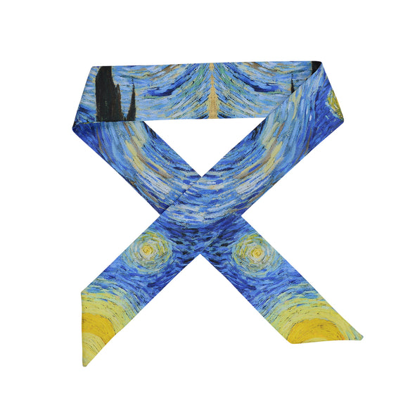 Gorgeous Van Gogh 'Starry Night' print hair scarf