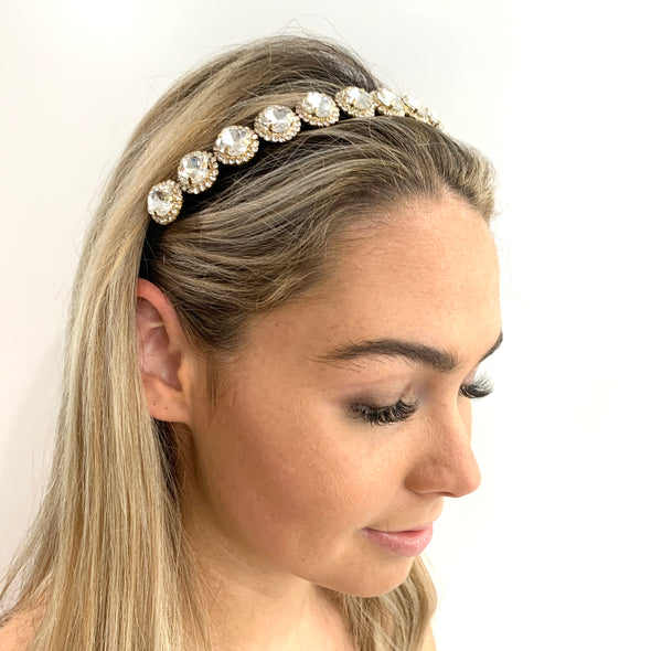 Bella Headband - Clear Crystal