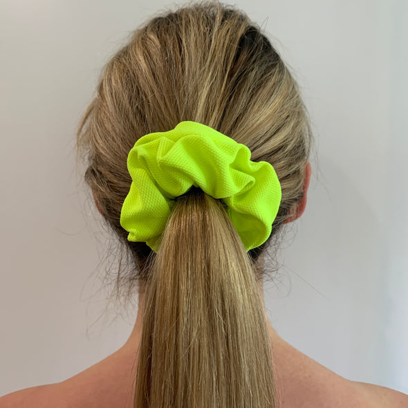 Mardi Scrunchie - Neon Yellow/Green
