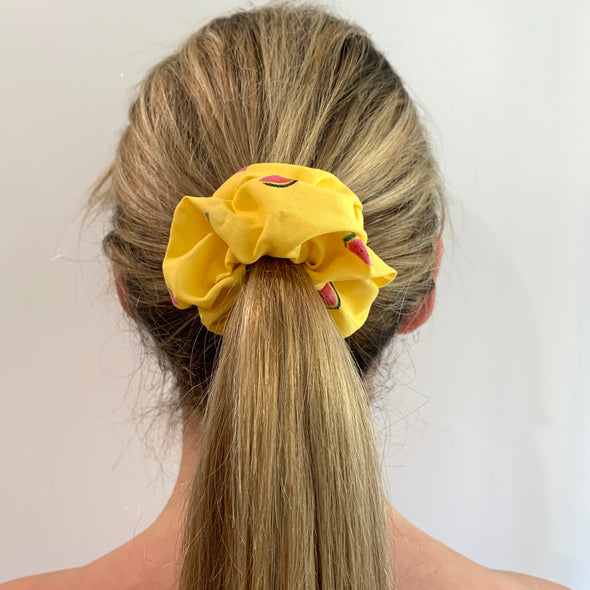 Melamelon Yellow Scrunchie