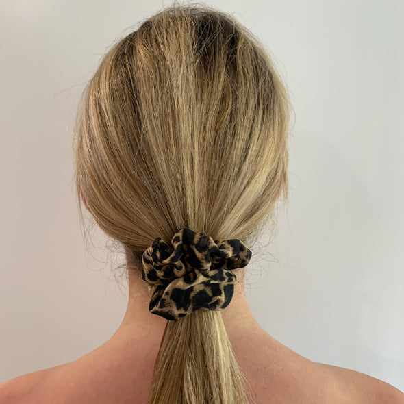 Silk Chiffon Scrunchie - Animal Print