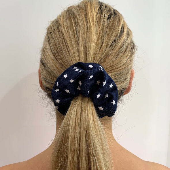 Lucky Stars In Navy Scrunchie