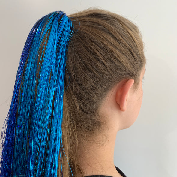 Hair Tinsel - Aqua Blue