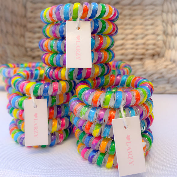 Rainbow Spiral Elastics - Set of 5