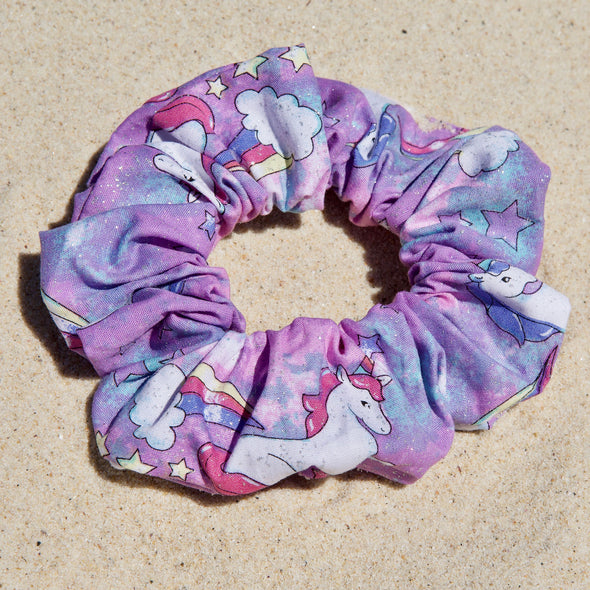 purple unicorn scrunchie