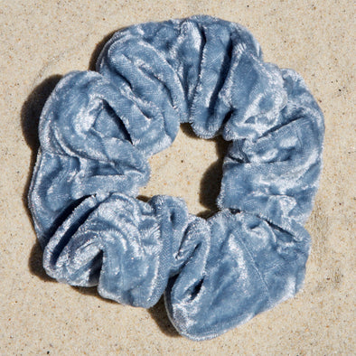 powder blue scrunchie