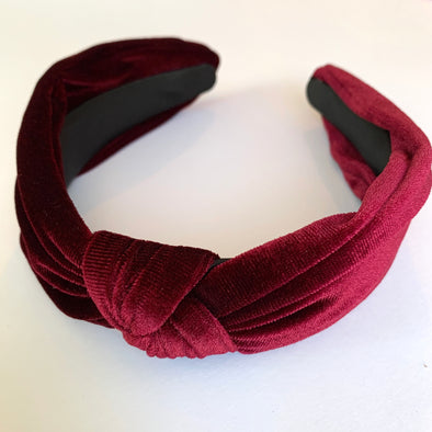 Evie Headband - Burgundy