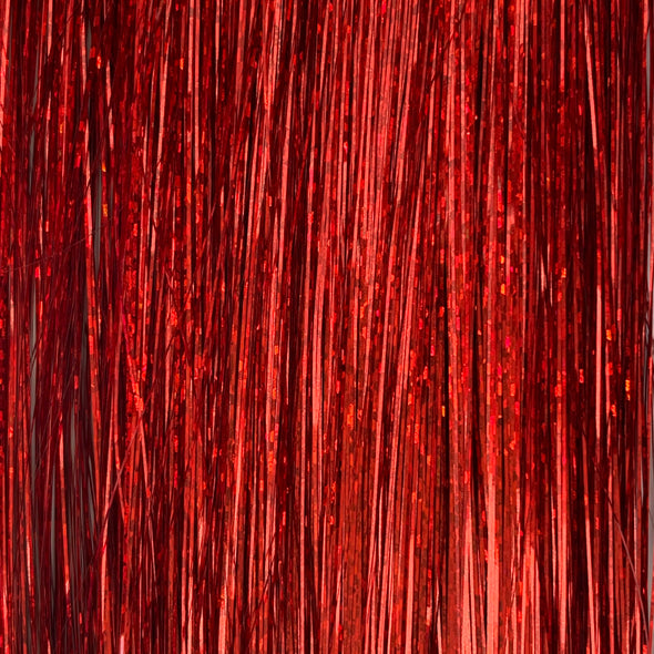 Red hair tinsel (fire engine red)