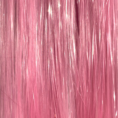 Pale pink hair tinsel