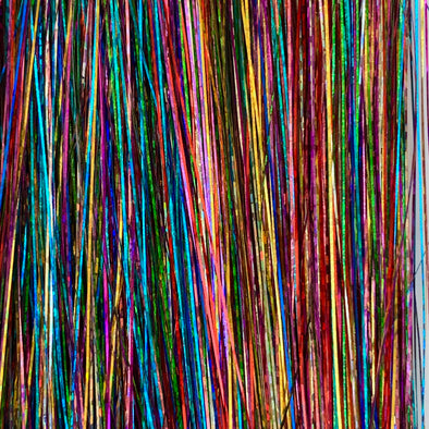 Rainbow sparkle hair tinsel