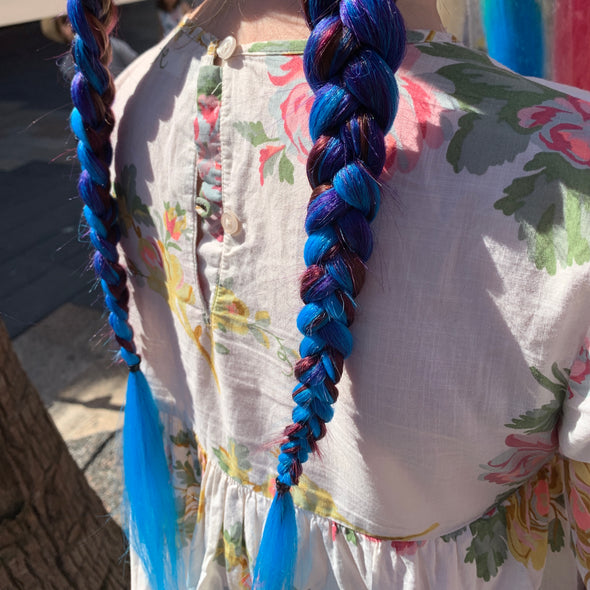 Jumbo Hair Braid (Navy, Blue & Light Blue