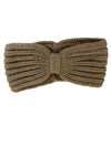 Knitted Headband - Light Coffee Bow