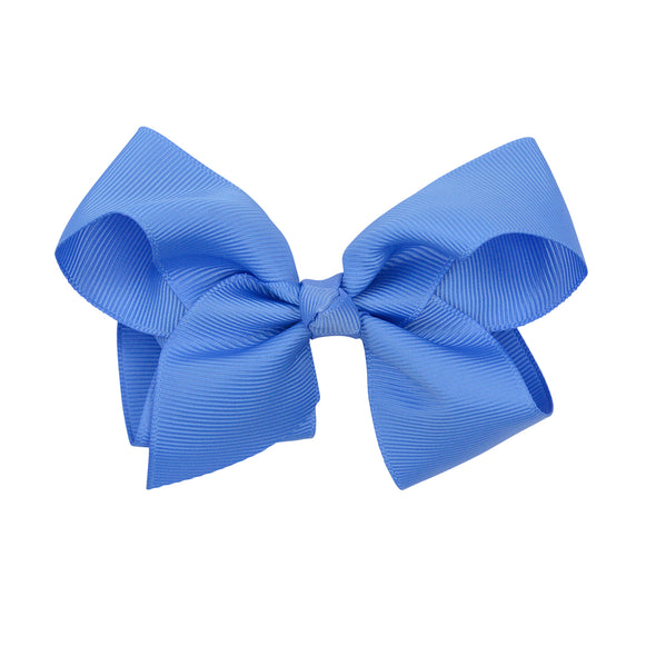 dark blue clip on bow for hair