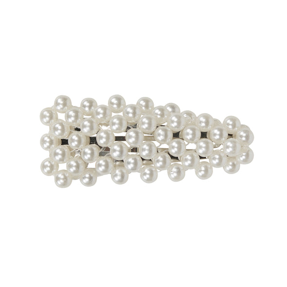 Gorgeous small pearl (faux) hair clip in silver setting