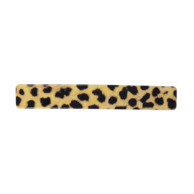 Animal print barrette set on a silver base.