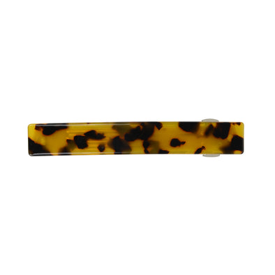 Tortoiseshell hair barrette  Will fit all hair into barrette for fine-medium thickness hair. For thicker hair you will be able to do a half up style. Great quality.  Size: 8.5cm length  Materials: Acetate & alloy  Imported