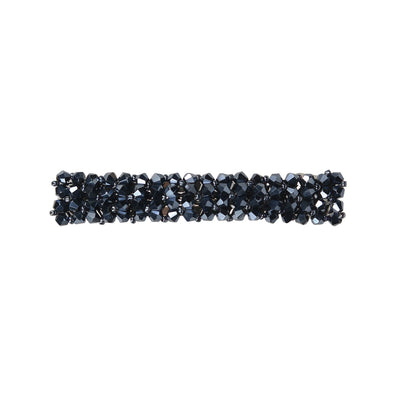 Caprice Crystal Hair Barrette (Navy)