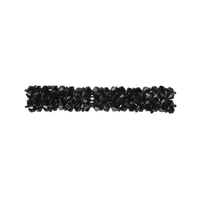 Gorgeous beaded crystal hair barrette - black colour
