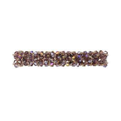 Gorgeous beaded crystal hair barrette in a purple/pink colour