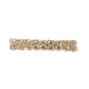 Gorgeous beaded crystal hair barrette in a creamy beige colour