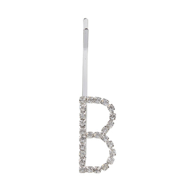 Initial Letter B Bobby Pin (Silver Colour)