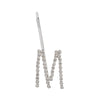 Initial M - silver colour bobby pin