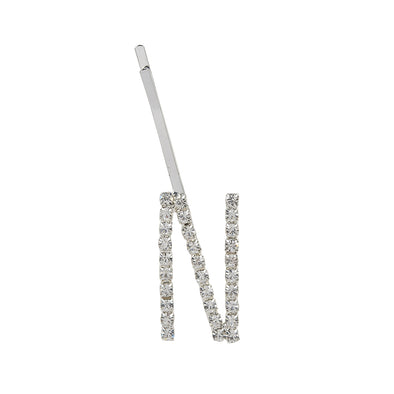 Initial N - silver colour bobby pin
